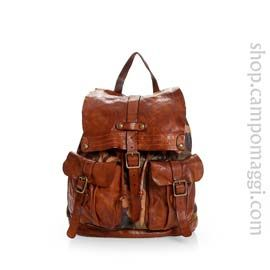 leather backpack campomaggi