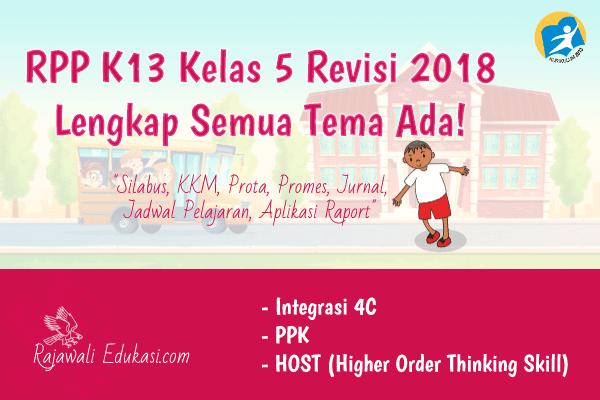 RPP K13 Kelas 5 Revisi 2018 Lengkap Semua Tema Ada ...