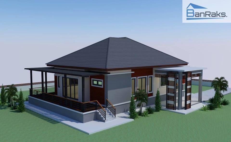 Single storey house Modern 3 bedrooms, 2 bathrooms, 1 car