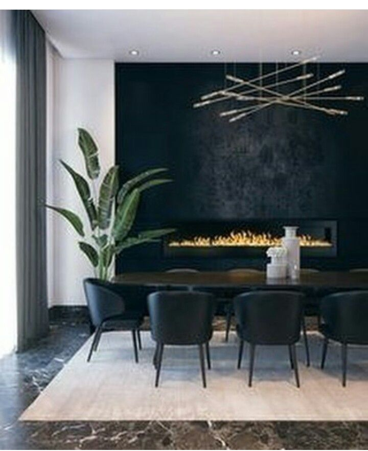 Le noir dans la salle à manger la rend élégante #style