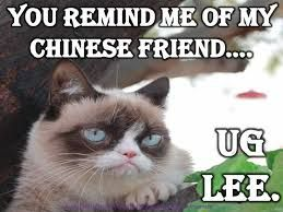 you remind me of my chinese friend... ug lee