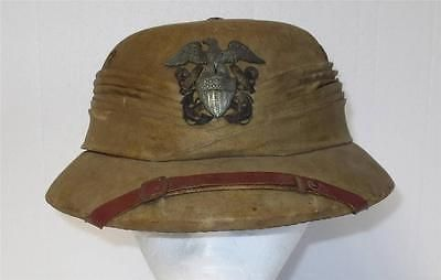 12d21f70409ef Authentic   Rare Vintage Wolseley WWII US Navy Pith Helmet with Badge