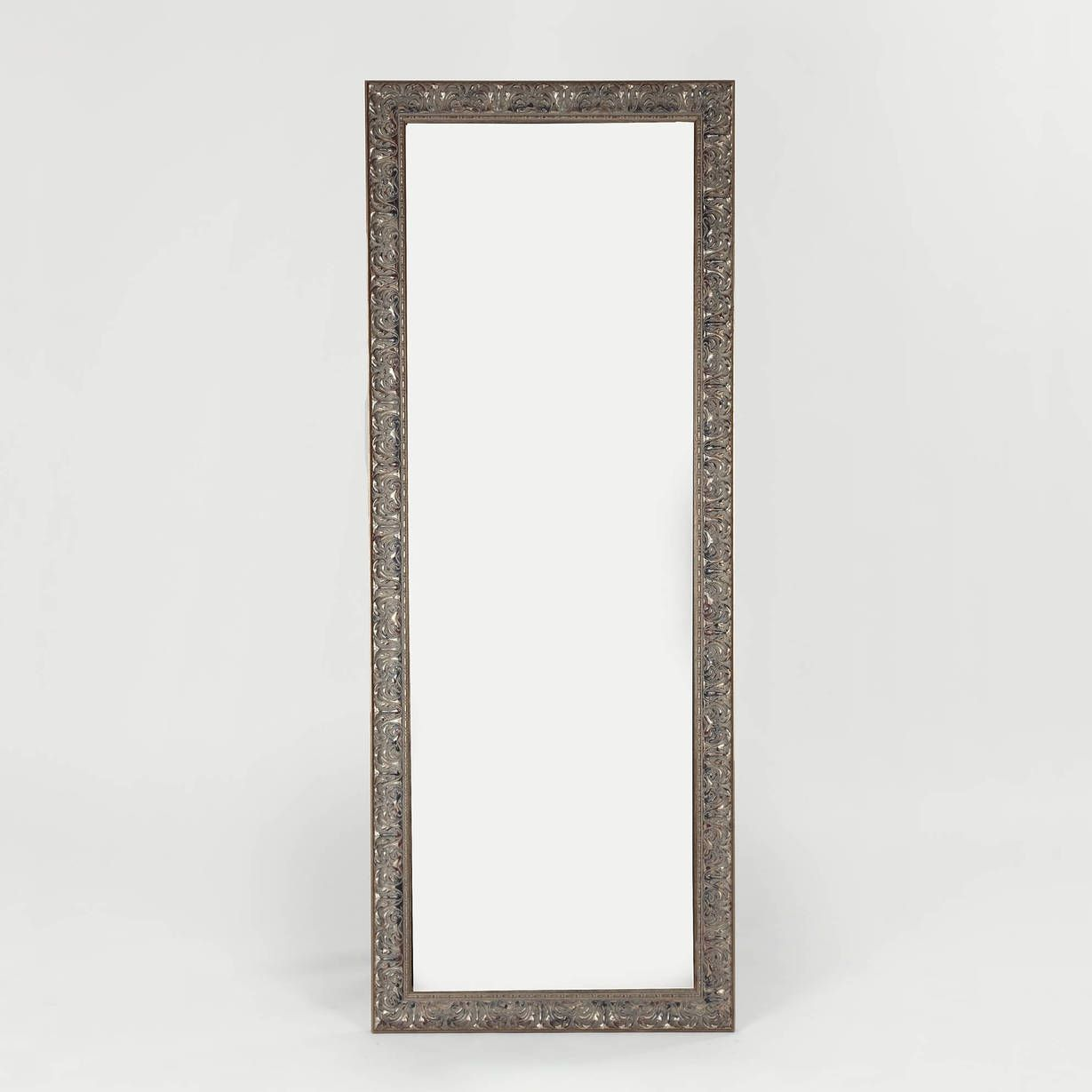 GK Framing — Distressed Silver Border Mirror — THE LINE