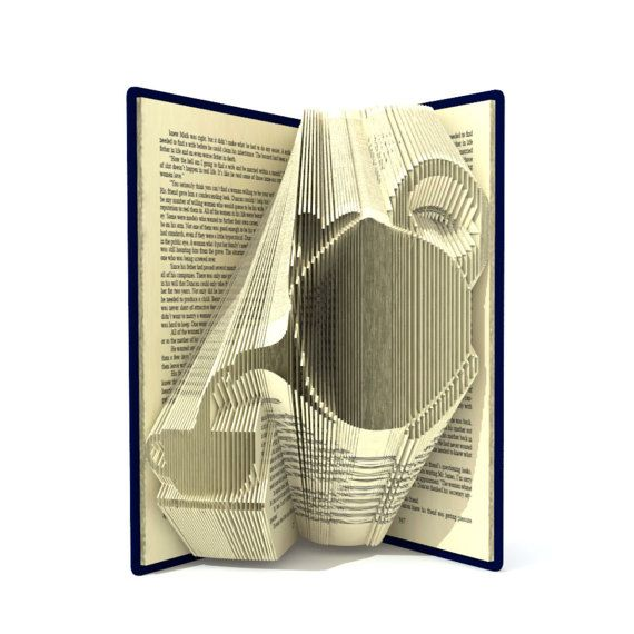 Book Folding PATTERN to create your own folded book art Teapot