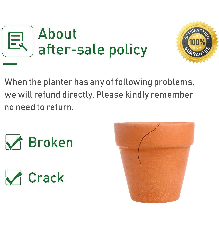 Terra Cotta Pots With Saucer 6 Pack 4 Clay Ceramic Pottery Planter Cactus Flower Pots Succulent Pot Drainage H In 2020 Succulent Pots Pottery Planters Clay Ceramics