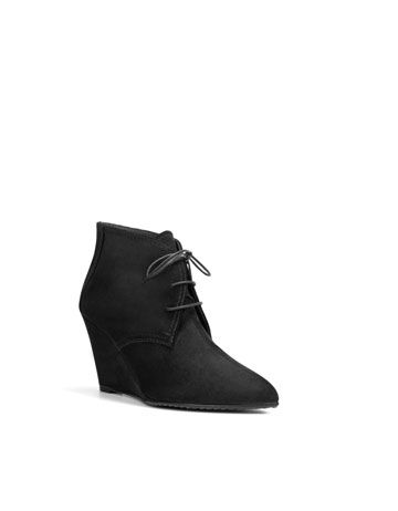 wedge lace-up ankle boots from zara