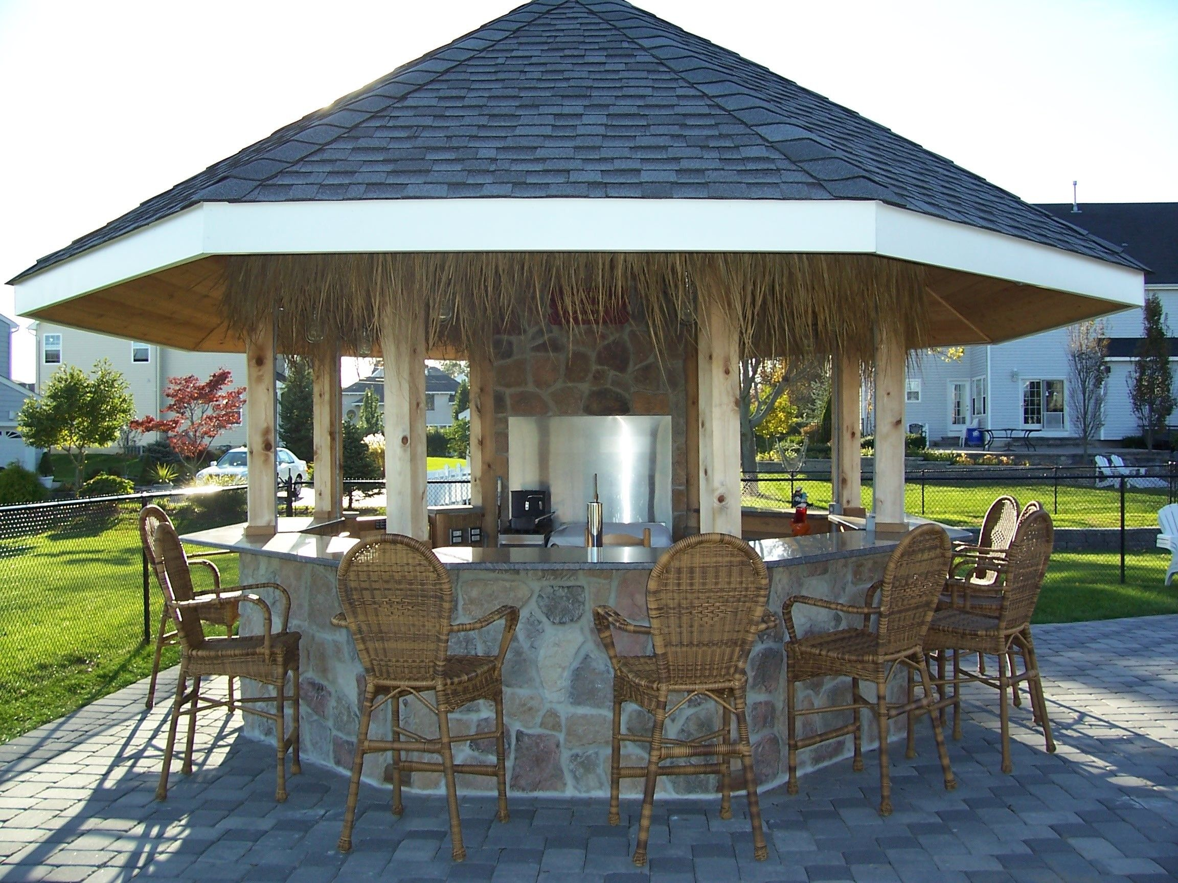 Enclosed Outdoor Kitchens Outdoor Bar Covers Enclosures Gazebo