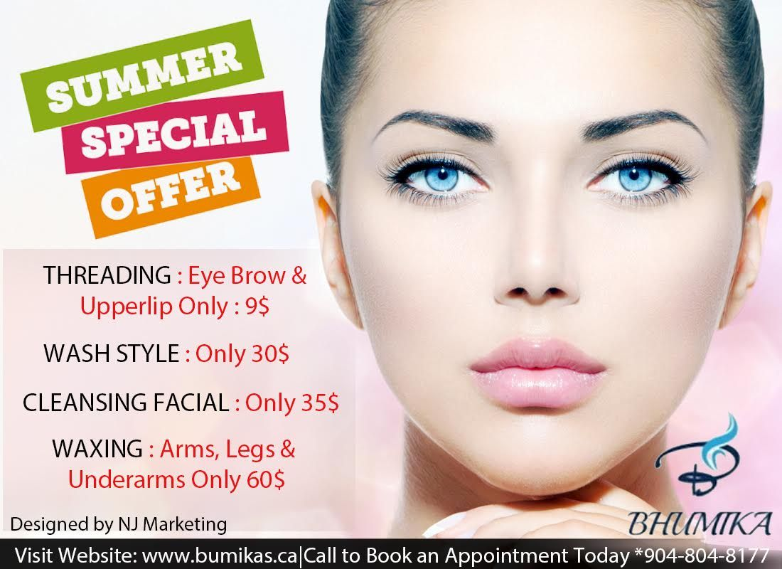 June Special Offer Bhumika Salon Spa Laser Center In Mississauga