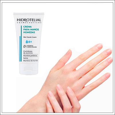 Tienes las manos contínuamente húmenas? Este síntoma se conoce como hiperhidrosis palmar y suele ser muy molesto pudiendo afectarnos hasta incluso a la hora de relacionarnos con los demás, ya que el mero hecho de dar la mano nos puede resultar muy incómodo. La crema para Manos Húmedas de HIDROTELIAL hidrata y nutre las manos con exceso de sudoración, ayudando a controlar y regular la transpiración. Da la mano sin miedo con HIDROTELIAL!! #hidratacion #belleza #beauty