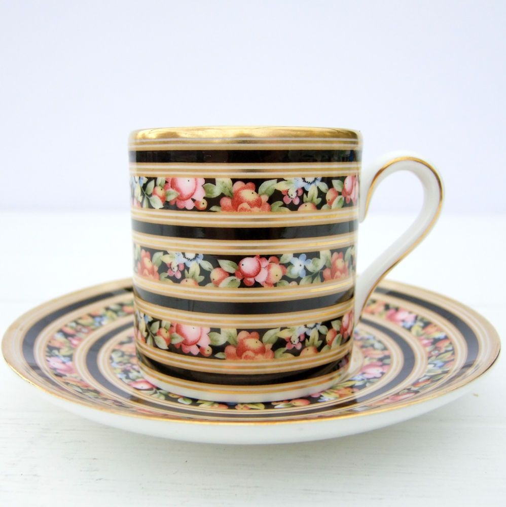 Small Coffee Cups And Saucers Vintage Wedgwood Clio Bone China Demitasse Small Coffee Cup Saucer