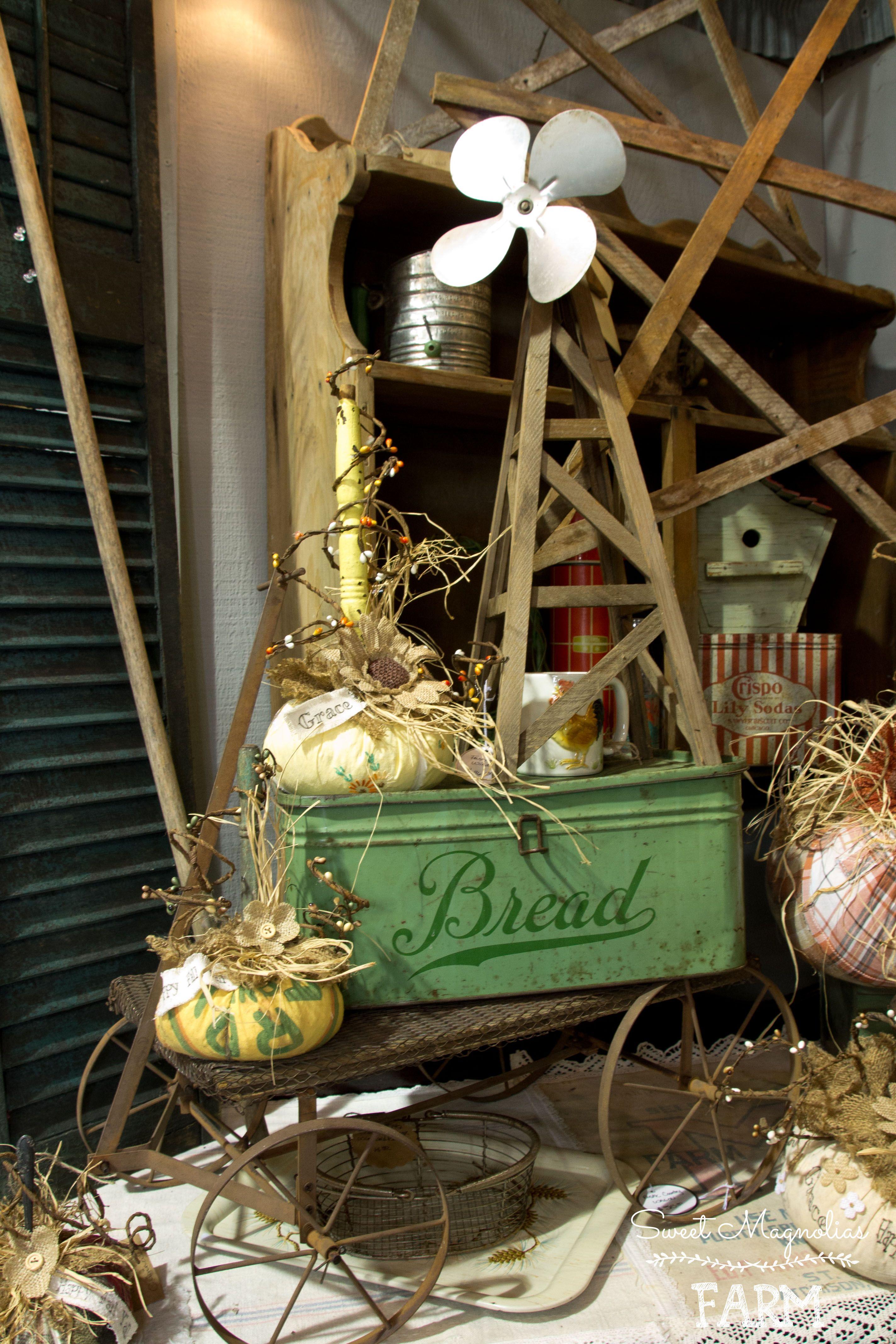 antique stores ozark mo Sweet Magnolias Farm Shop Display ~ Our Farmhouse Original  antique stores ozark mo