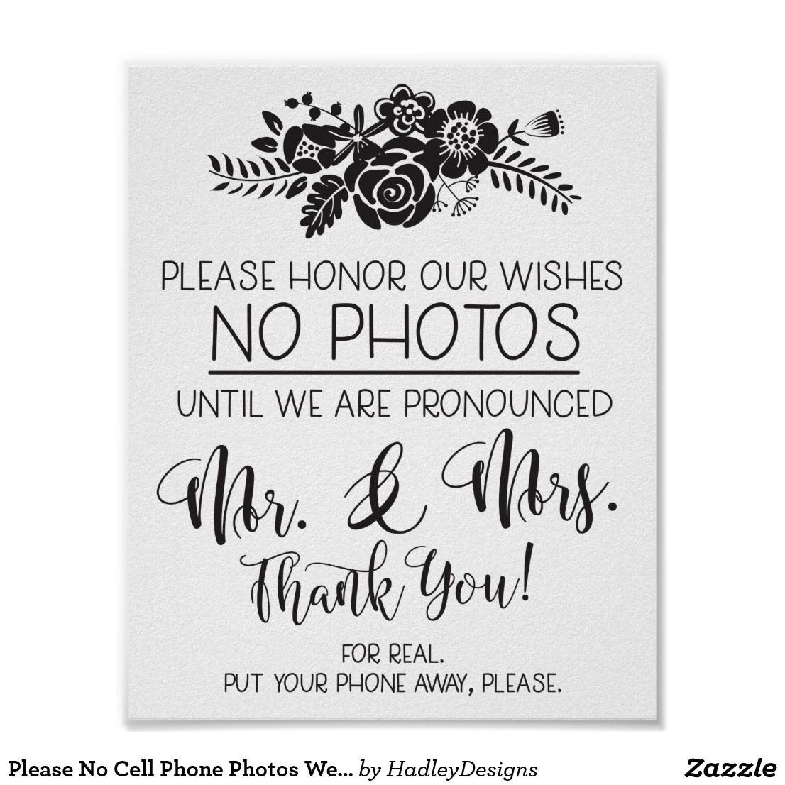 Please No Cell Phone Photos Wedding Ceremony Sign | Wedding ceremony ...