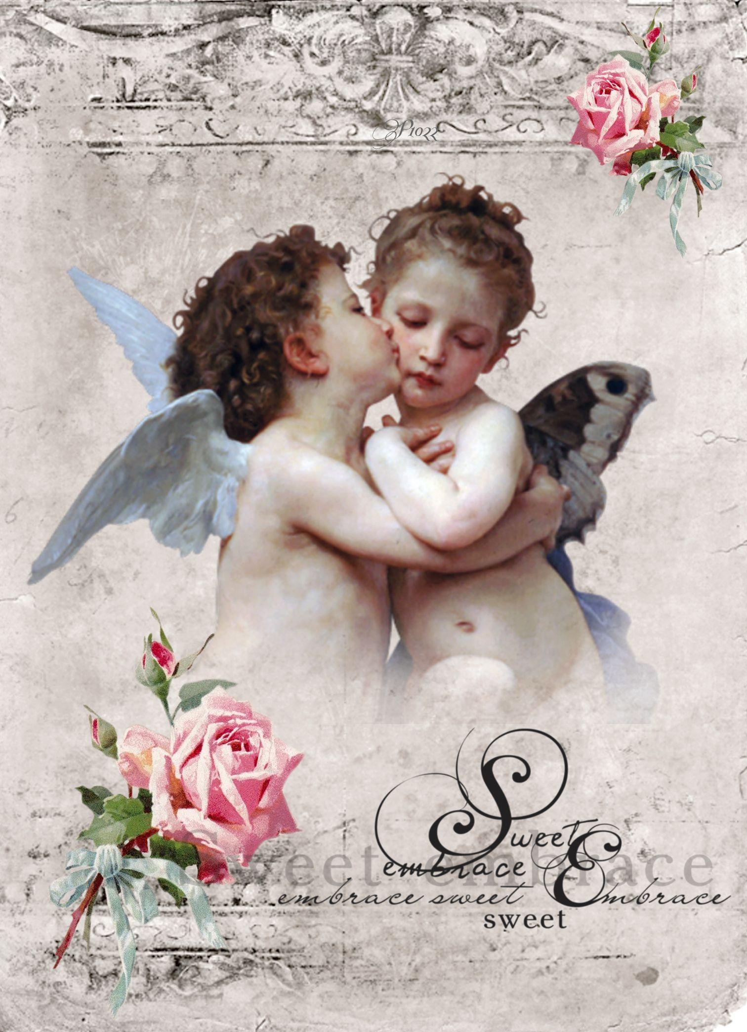 Картинки для декупажа ангел