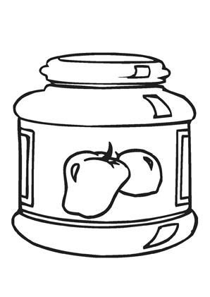 Ausmalbild Marmeladenglas Ausmalen Ausmalbild Marmelade