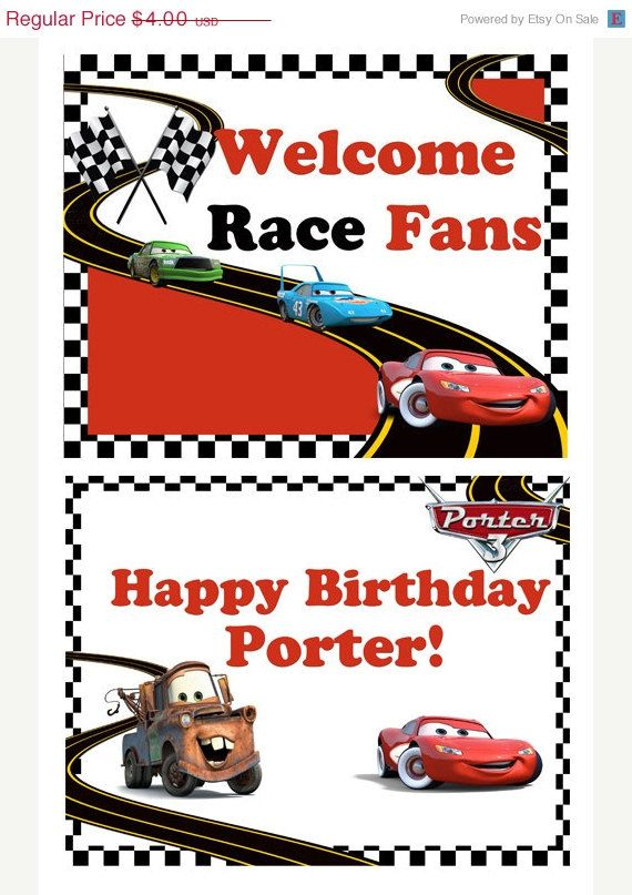 30 off sale Digital Disney Cars, Cars2 Printable Birthday door