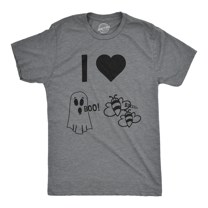 I Heart Boo Bees Men's Tshirt   Halloween shirt, Funny