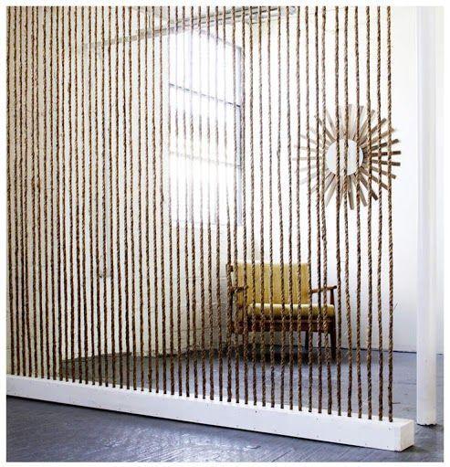 Dividir una estancia con una pared de soga – Decoración de Interiores   Opendeco