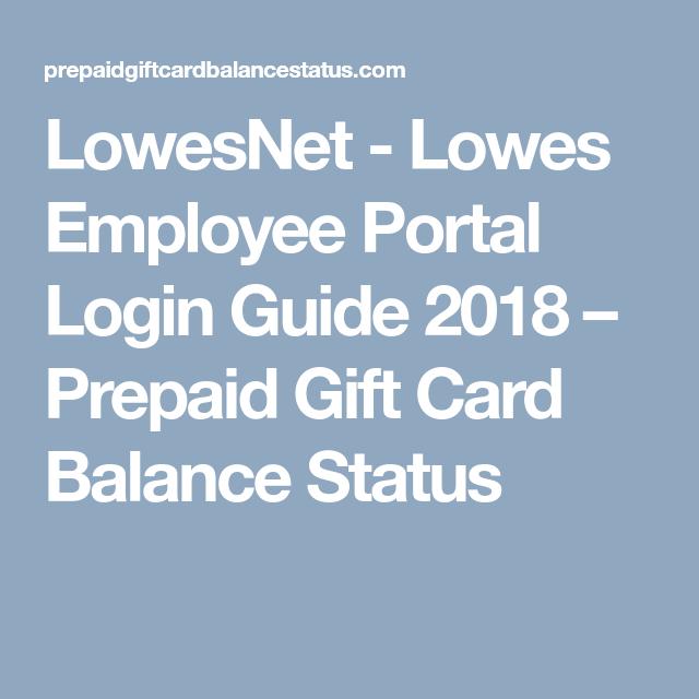 Lowes Employee Portal >> Lowesnet Lowes Employee Portal Login Guide 2018 Prepaid