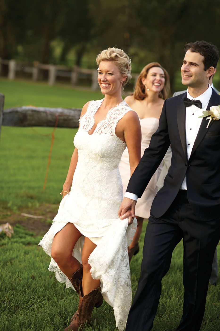 This Wedding Saw The Bride And Bridesmaids Wear Cowboy Boots For A