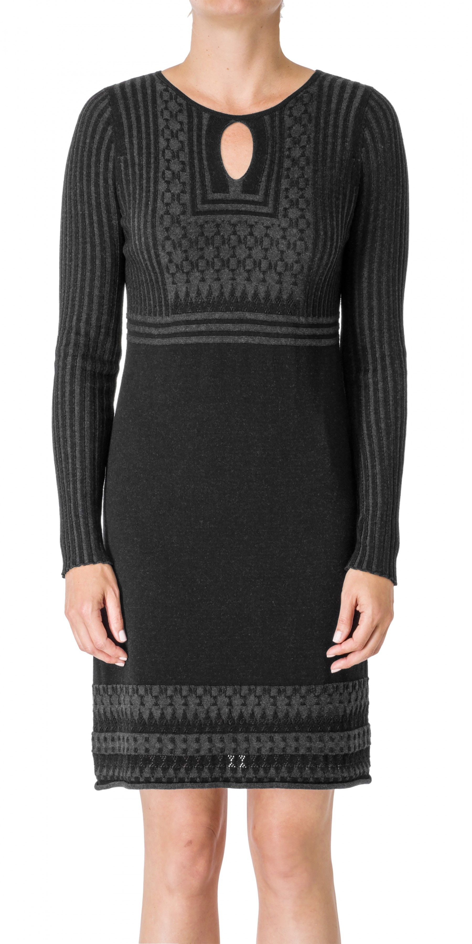 ea3dbd5df2 Long Sleeved Knitted Sweater Dress
