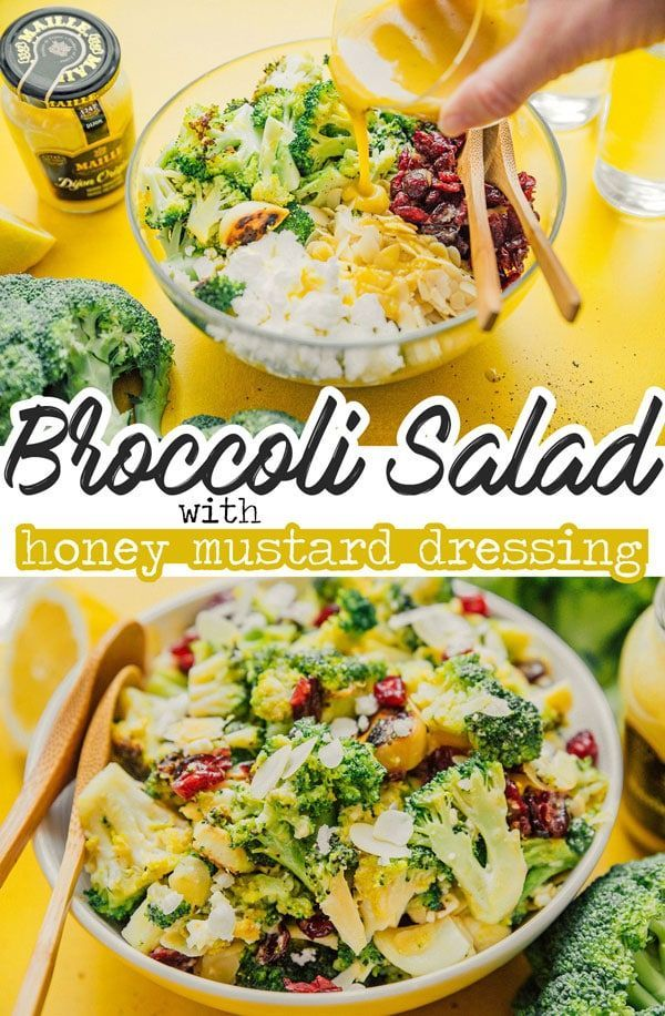 Grilled Broccoli Salad with Honey Mustard Dressing images
