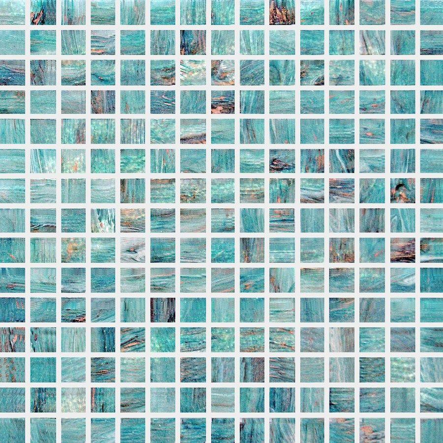 Mosaik Golvabia Goldsilk Aqua 2x2 | Aqua