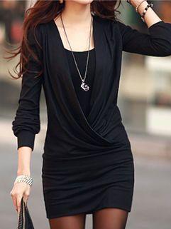 Street Wear Bodycon Black Women Lining Twinset Dress