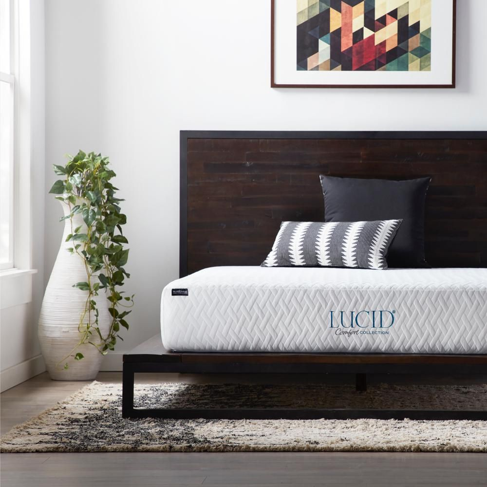 Lucid Comfort Collection 10 In Twin Xl Gel Memory Foam Mattress Firm Comfort Mattress Foam Mattress
