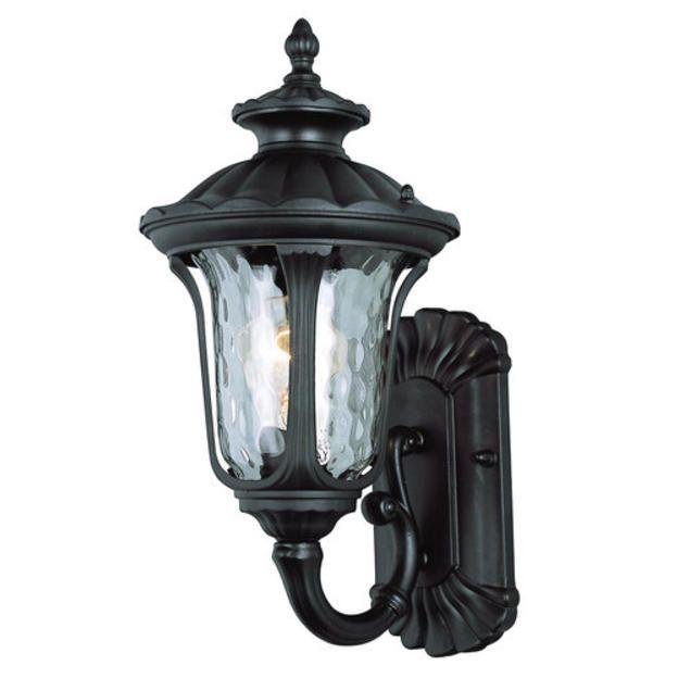 Trans Global Lighting Globe 5910 Bk Outdoor 1 Light Black Wall Mount