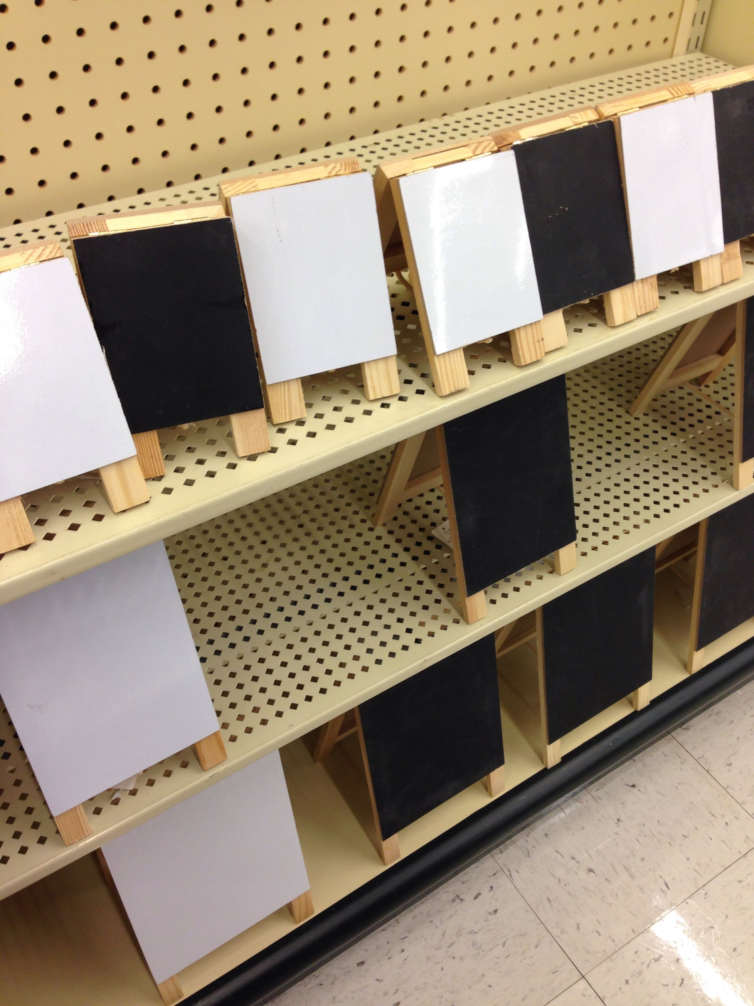 Hobby Lobby Small Easels Chalkboard On One Side Dry Erase Board On The Other Several Different Sizes Art Themed Party Dry Erase Dry Erase Board