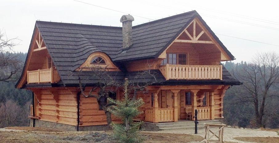 Large Log House Log Homes House Stone Cottages