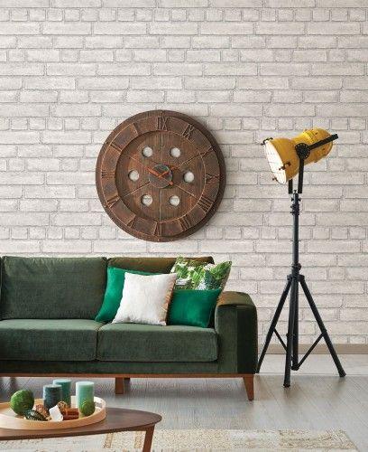 Vliestapete Rasch Textil Wand Backstein grau weiß 024051 - graue wand und stein