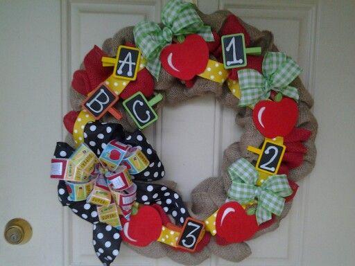 School day wreath