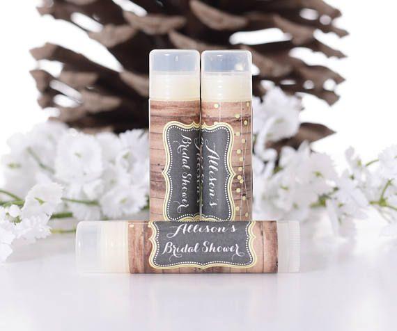 Vintage Wedding Lip Balm Labels Custom Bridal Shower Favor