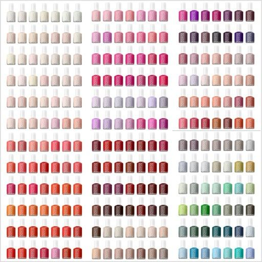 Essie nail polish chart   ve seriously become obsessed with lately also best envy images enamels rh pinterest