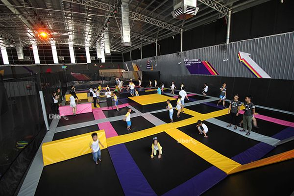Indoor Trampoline Park Project In Guangzhou Indoor Trampoline Trampoline Park Adventure Park