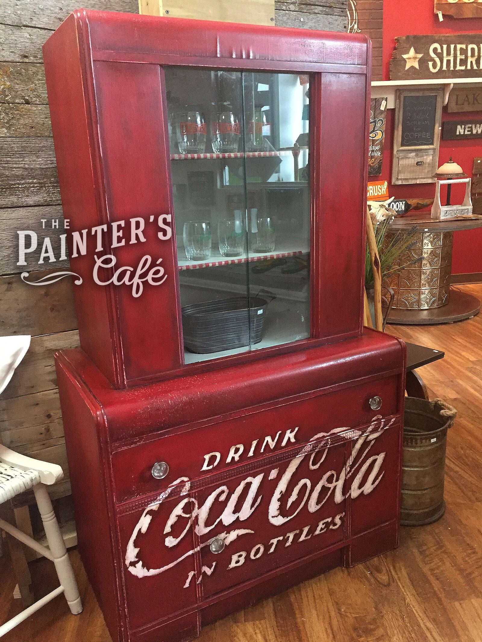 Vintage Coca Cola Hand Painted Hutch By Thepainterscafe On Etsy Https://www.
