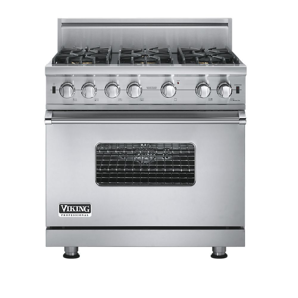 36 inch pro style gas range with 6 vsh pro sealed burners with rh pinterest com Professional Stoves for the Home viking professional gas stove parts