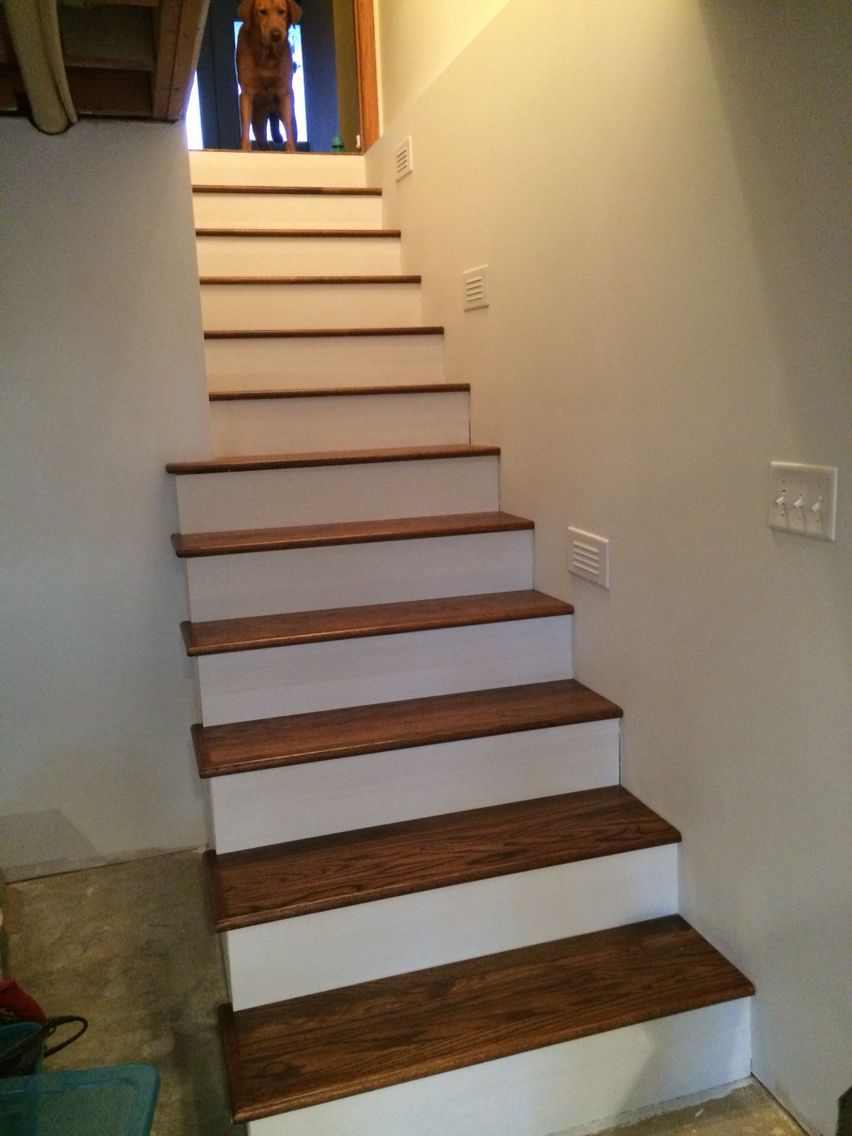 Best Stained Oak Stair Treads Oak Stairs Stairs 400 x 300