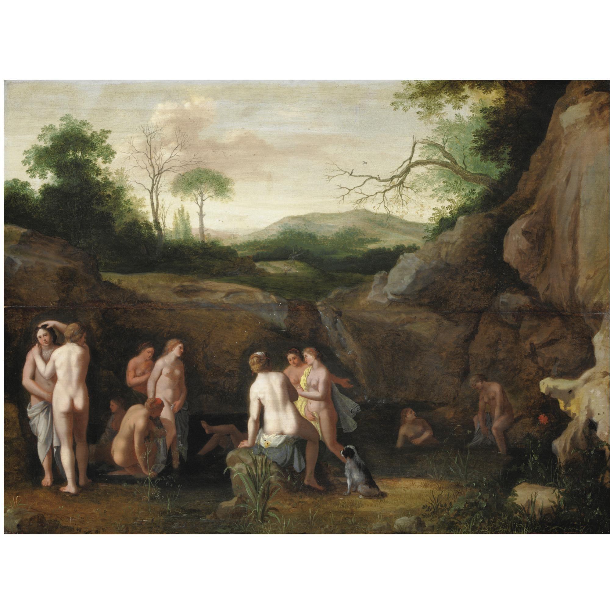 Cornelis van poelenburgh il bagno di diana olio su tavola - Il bagno di diana klossowski ...