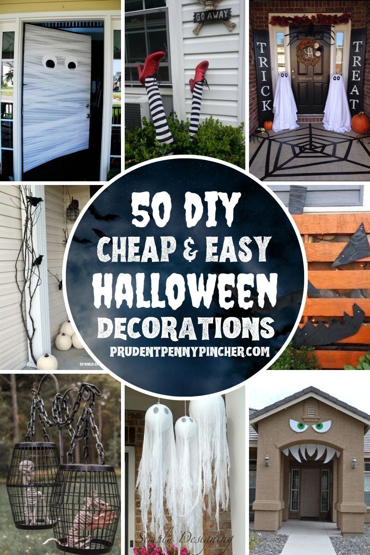 Cute Halloween Decor Ideas 2020 50 Cheap and Easy Outdoor Halloween Decor DIY Ideas in 2020