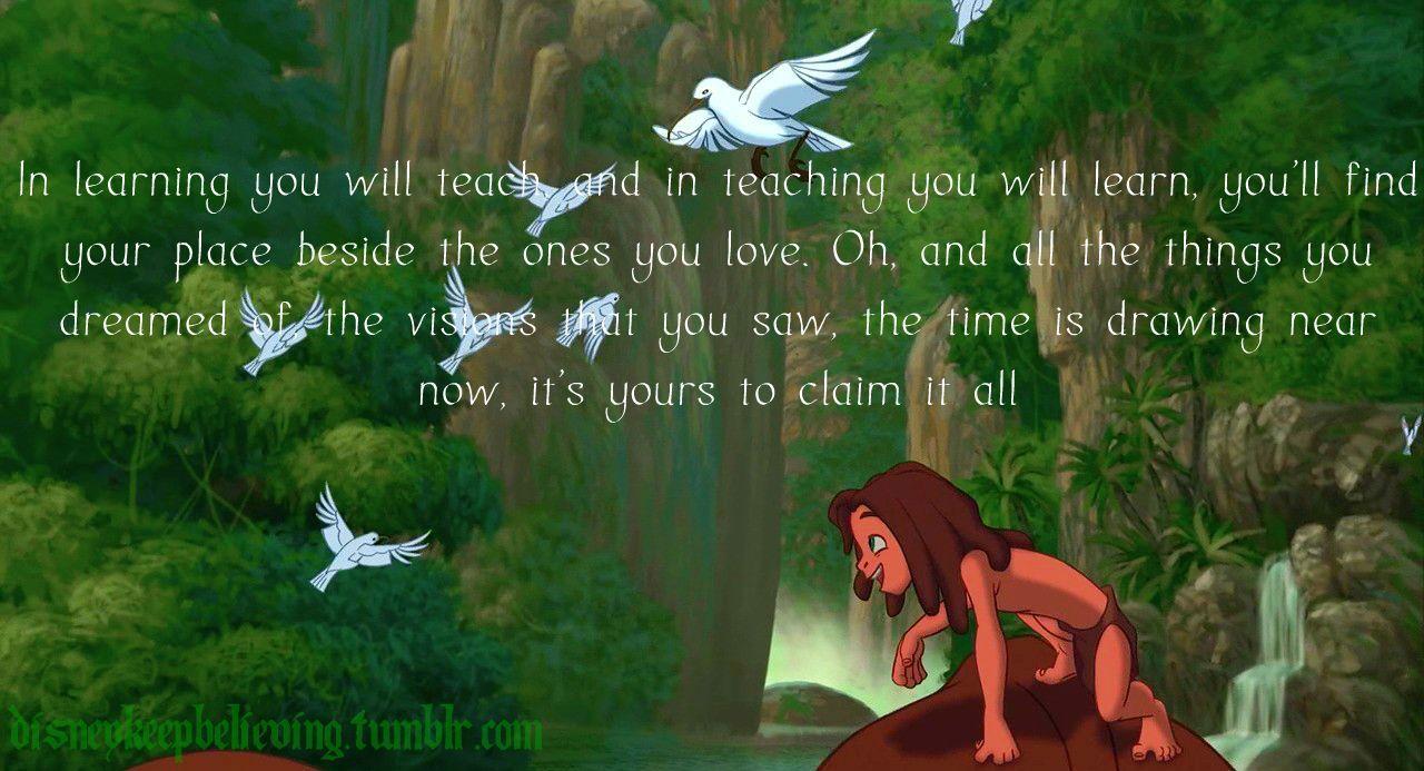 Son Of Man Phil Collins Disney Songs Tarzan Quotes Tarzan Song