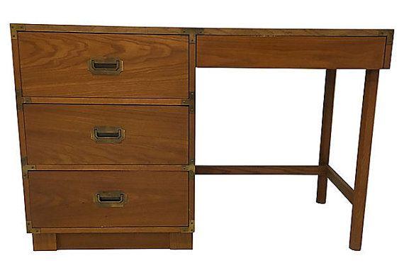 drexel campaign desk campaign furniture mid century desk      rh   pinterest com