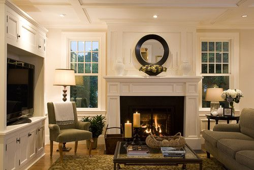 Living Room With Tv As Focal Point tv and fireplace on separate walls | home ideas | pinterest