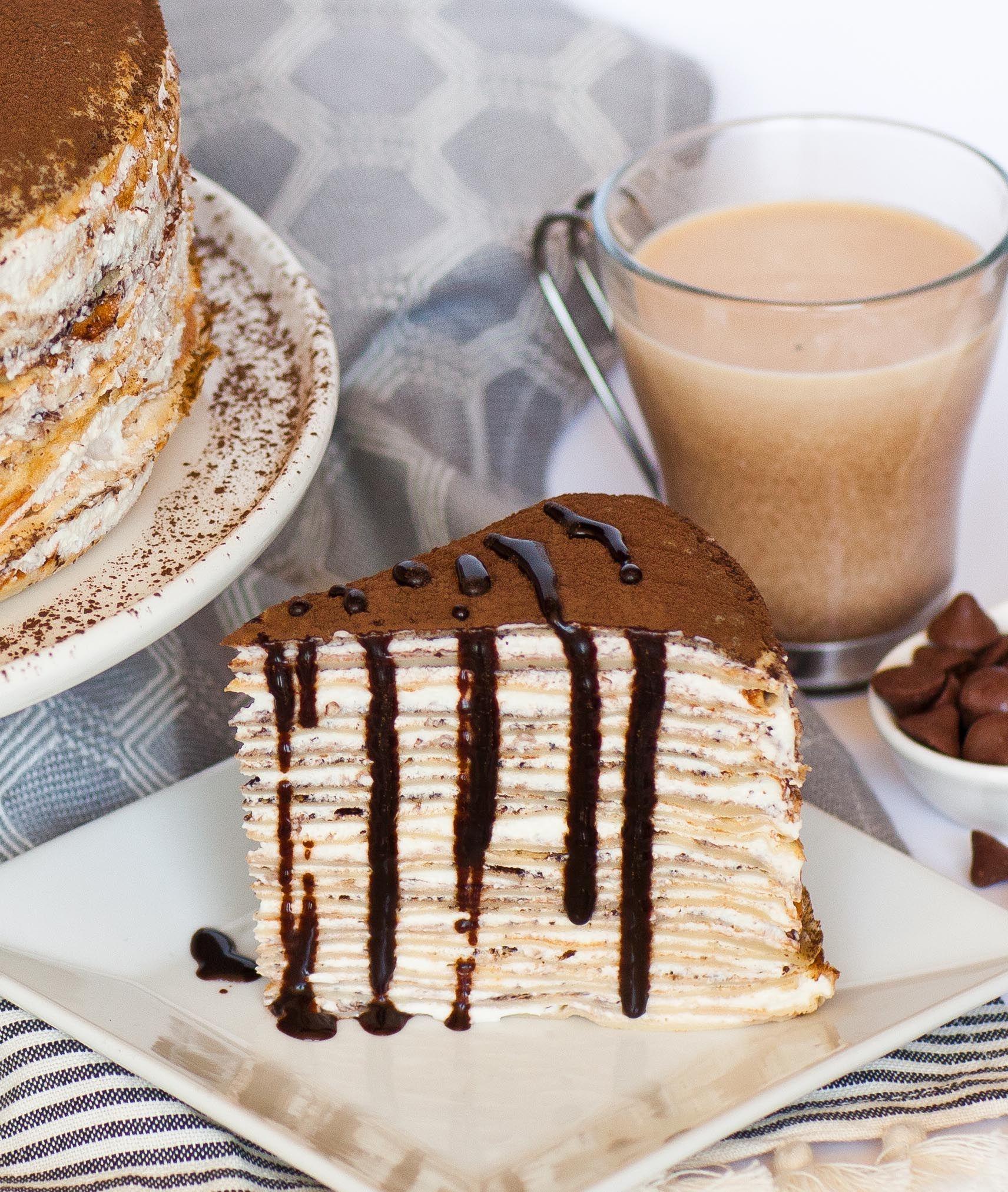 Tiramisu Crepe Cake | Receta | Postres, Pastelitos y Comida