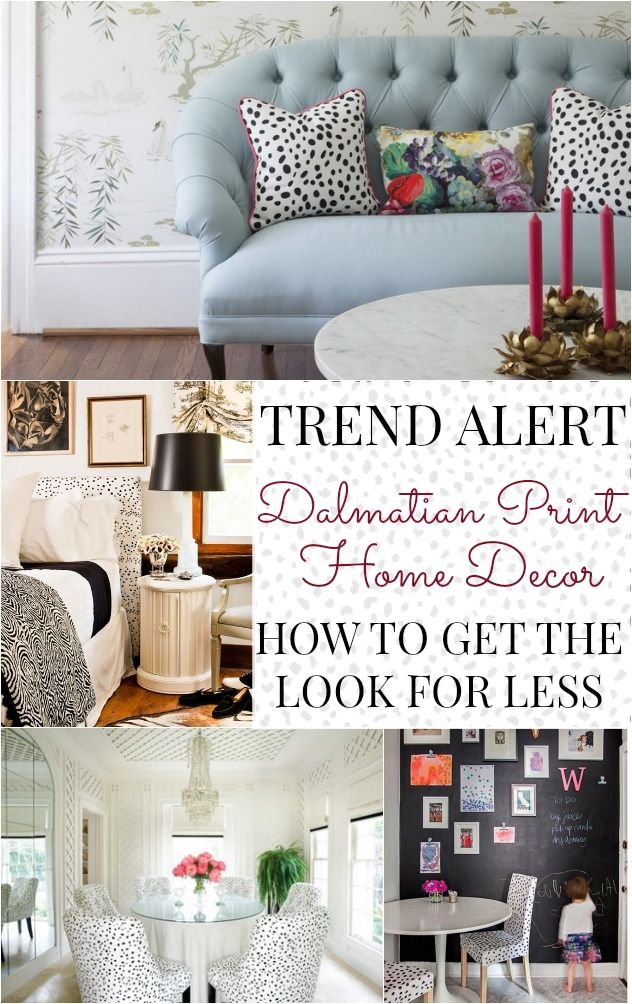 Trend Alert: Dalmatian print home decor. How to get the look for less.