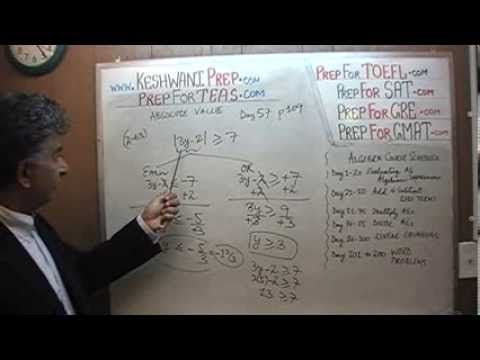 Teas V Math Day 57 P109 Algebra Absolute Val Gre