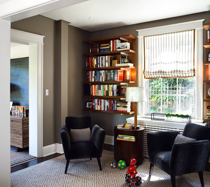 Home, Home Decor, Corner Bookcase