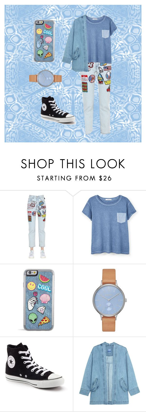 """""""colorful"""" by yasmin-lek on Polyvore featuring GCDS, MANGO, Skagen, Converse, Steve J & Yoni P, StreetStyle and colorful"""