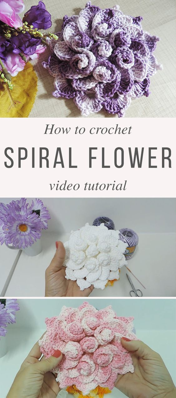 Spring Flower Crochet Pattern Tutorial | fiori | Pinterest ...